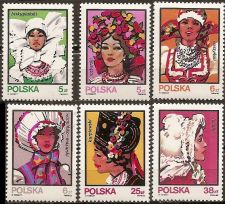 Buy Poland: Folk costumes (1983), MNH, Complete Set