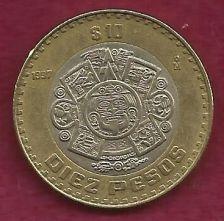 Buy MEXICO 10 Pesos 1997 Bimetallic Coin