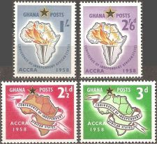 Buy Ghana: Scott No 21-24 (1958), MNH, Cpl Set