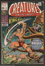 Buy CREATURES ON THE LOOSE #10 KING KULL #1 KEY BERNI WRIGHTSON THOMAS MARVEL COMICS