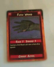 Buy Flesh Wound Trading Card Combat Action 1995 Rage 1 Damage 1