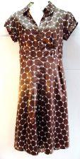 Buy Cato 8 Dress Brown Polka Dot Polyester Sheath White cap sleeve