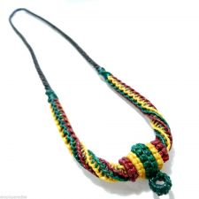 Buy Waxed Cord Necklace for Thai Buddha Amulet Pendant Handmade Reggae Colors