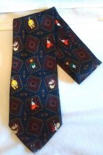 Buy Looney Tunes Mens Neck Tie Polyester Tweety Bugs Navy Blue