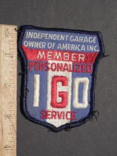Buy Rare Vintage Independent Garage Owners Of America Inc (IGO) Sew on Patch