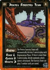 Buy Pentex Forestry Team Rage Card Mint Unplayed Enemy Game