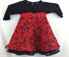 Buy Blueberi Boulevard 12 month red black Holiday Christmas Dress
