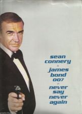Buy Sean Connery is James Bond 007 in NEVER SAY NEVER AGAIN B&W stills PRESS KIT +