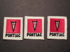 Buy Lot of 3 Vintage Pontiac Arrow Head Sew on Cheese Cloth Patches