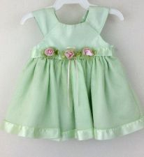 Buy Youngland 0-3 month Mint green infant dress Wedding Spring