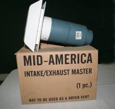 Buy (New, in box) Mid America Master Intake Exhaust Vent WHITE