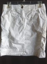 Buy chicos 00 skirt white Cotton casual womens size 2 mini solid knee