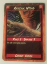 Buy Grazing Wound Trading Card Combat Action 1995 Rage 1 Damage 1