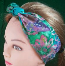 Buy Headband hair wraptie bandana Batiks Print Hippie Boho 100% Cotton hand made