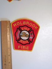 Buy 1980's Era Holbrook, MA Fire Sew on Cheese Cloth Patch