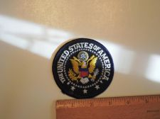 "Buy Vintage United State of America Seal Patch (Black Trim) 3"" Round"
