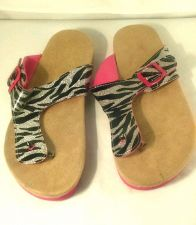 Buy Black Silver zebra shimmer Sandals 5/6 shoes Pink