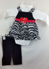 Buy Jumping Beans 2 pc Set Black White Zebra 12 month infant
