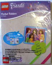 Buy NIP Lego Friends 2 Pack 3 Ring Pocket Folders & Stickers Pee Chee Flowers Hearts