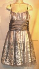 Buy Morgan & Co Silver dress Prom size 11/12 sparkle Party cocktail glitter banquet