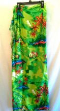 Buy In Gear Green Floral Sarong Rayon Beach Cover Up
