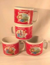 Buy Campbells Soup Mugs Lot 4 Coffee 2002 Farm Gardening Theme