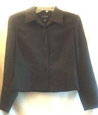Buy Ann Taylor Blazer Gray 6P Wool Career Jacket Crop petite Fall