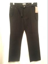 Buy Faded Glory Jeans Stretch Black Denim 18 new Ladies MidRise Relaxed