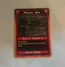 Buy Forceful Wind Trading Card Combat Action 1995 Rage 4 Damage 2