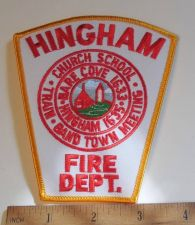 Buy 1980's Era Hingham Fire, MA Sew on Cheese Cloth Patch