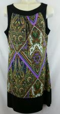 Buy Sequin Hearts Medium Paisley Dress M Sleeveless Womens