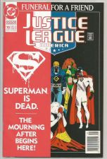 Buy Justice League of America #70 FUNERAL 4 Superman 1stPrintDC COMICS Jurgens 1993