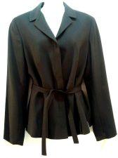 Buy Ann Taylor Loft Wool Blazer Black Jacket 6 Tie Front Career Womens