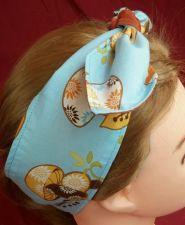 Buy Headband hair wraptie bandana Retro Mushroom Hippie Boho 100% Cotton hand made