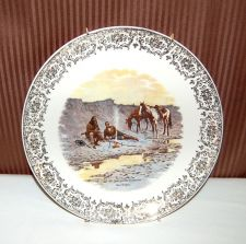 Buy A NEW YEAR ON THE CIMARRON Plate by Frederic Remington Cowboy Western Collectabl