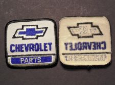 Buy Lot of 2 Vintage Chevrolet Dealership Parts Sew on Patch