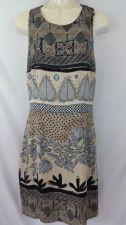 Buy Donna Morgan 4 Tan Black Dress Geometric Rayon