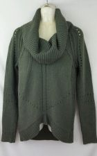 Buy Ann Taylor Loft Xmall Sweater Cowl Neck Olive Green Acrylic Tunic XS