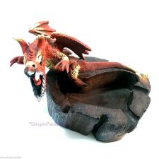 Buy Red Medieval Dragon Sawdust Sculpture Wood Dust Art Statue Cigarette Ashtray