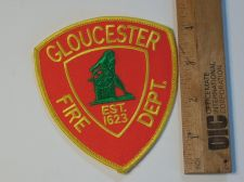 Buy 1990's Era Gloucester Fire, MA Iron/Sew on Patch
