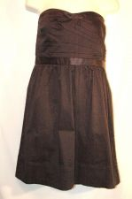 Buy American Eagle Dress Black Strapless 8 Party Cocktail Cotton solid mini
