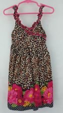 Buy Youngland 4T girls Leopard Floral Dress Toddler