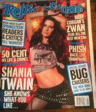 Buy Rolling Stone Magazine Shania Twain No Labels February 2003