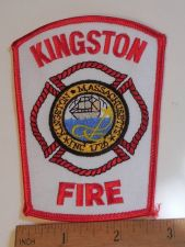 Buy 1980's Era Kingston Fire, MA Sew on Cheese Cloth Patch