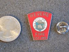 Buy Rare Find Vintage Revere Fire Department, Mass Insignia Hat/Tie Lapel Pin