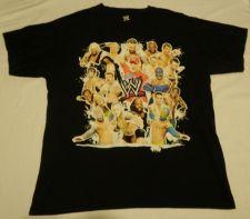 Buy MENS L CENA, MYSTERIO, SHEAMUS MEXICO TOUR T-SHIRT WWF WWE