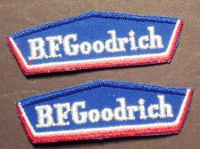 Buy Lot of 2 1980's Era B.F. Goodrich Tires Shirt/Jacket Sew on Cheese Cloth Patches
