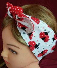Buy Headband hair wraptie bandanna Ladybugs print 100% Cotton