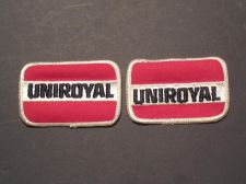 Buy Lot of 2 1980's Era Uniroyal Tires Iron/Sew on Patches