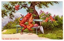 Buy VERY RARE 1936 VEGETABLE VEGGIE PEOPLE THIELE VINTAGE POSTCARD ANTHROPOMORPHIC